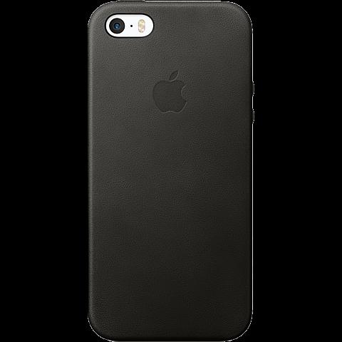 Apple Leder Case Schwarz iPhone SE 99925012 vorne