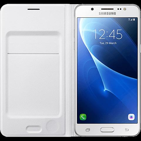 Samsung Flip Wallet Weiß Galaxy J5 (2016) 99924941 hinten