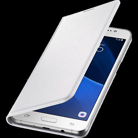 Samsung Flip Wallet Weiß Galaxy J5 (2016) 99924941 seitlich