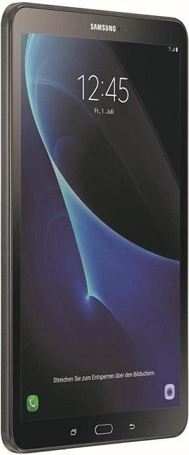 Samsung Galaxy Tab A 10.1 LTE (2016) in schräg nach links gedrehter Frontansicht