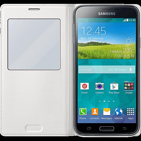 Samsung S-View FlipCover Samsung Galaxy S5 Weiß 99921479 hinten