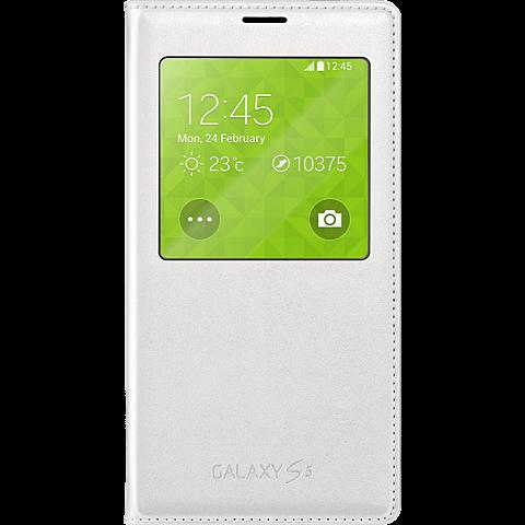 Samsung S-View FlipCover Samsung Galaxy S5 Weiß 99921479 vorne