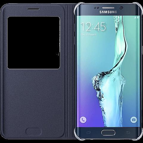 Samsung S-View Cover Samsung Galaxy S6 Edge+ Schwarz 99923970 seitlich