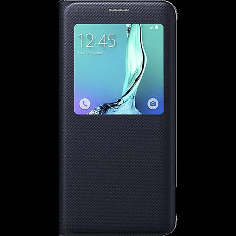 Samsung S-View Cover Samsung Galaxy S6 Edge+ Schwarz 99923970 vorne