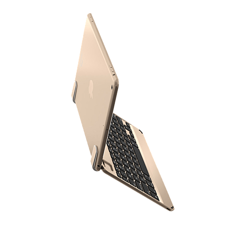 Brydge Bluetooth-Tastatur Gold Apple iPad Air 2 99924080 seitlich