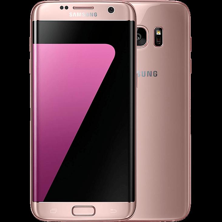 Samsung Galaxy S7 edge pink vorne und hinten