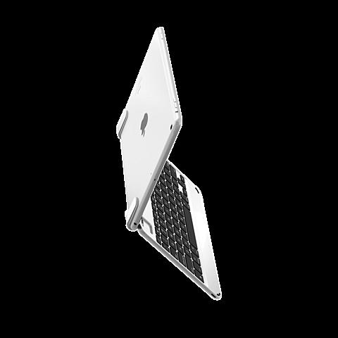 Brydge Bluetooth-Tastatur Silber Apple iPad Air 2 99924078 seitlich