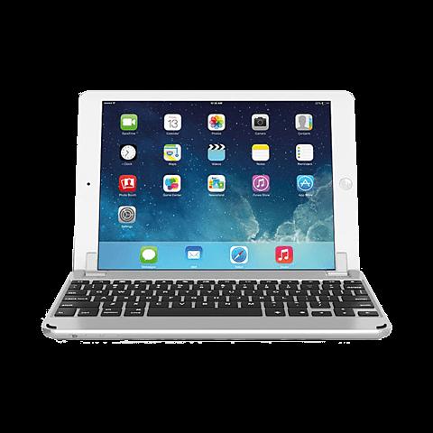 Brydge Bluetooth-Tastatur Silber Apple iPad Air 2 99924078 vorne