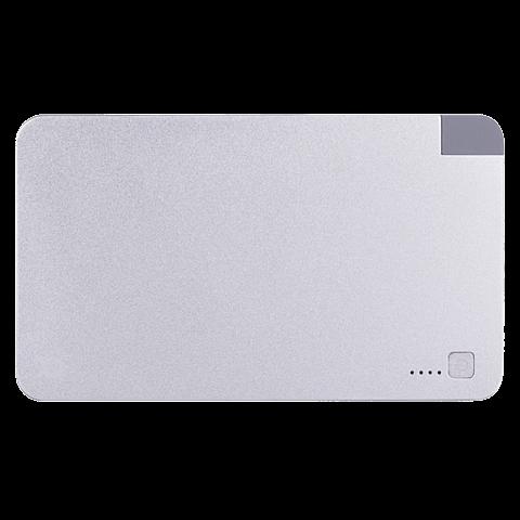 xqisit Battery Pack Lightning / Micro USB 5000 mAh Silber 99923892 vorne
