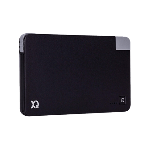 xqisit Battery Pack Lightning / Micro-USB 3000 mAh Schwarz 99923890 seitlich