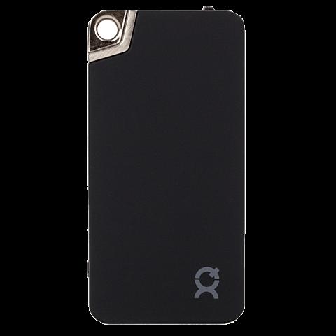 xqisit KeyChain Battery Pack Lightning / Micro-USB Schwarz 99923888 vorne