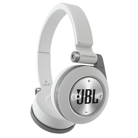 JBL E40 On-Ear Bluetooth-Kopfhörer Weiß 99925058 hero