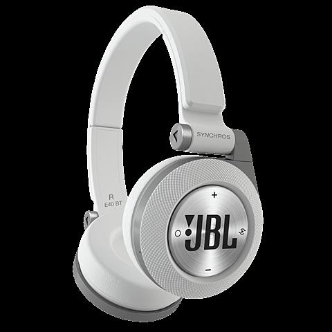 JBL E40 On-Ear Bluetooth-Kopfhörer Weiß 99925058 vorne