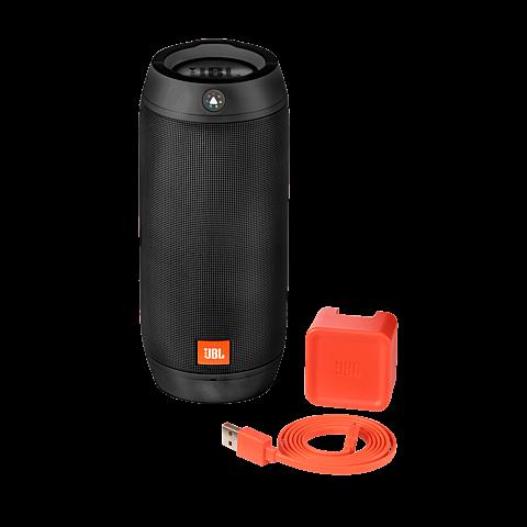 JBL Pulse 2 Bluetooth-Lautsprecher Schwarz 99923788 seitlich
