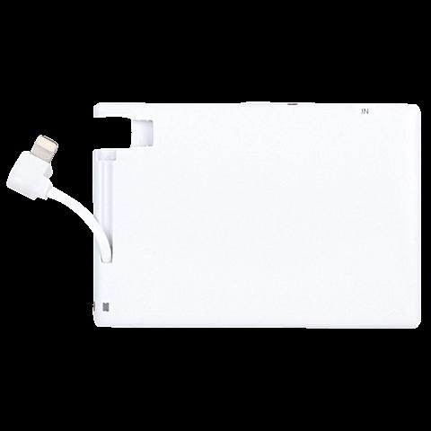 xqisit Battery Pack Lightning 1350 mAh Silber 99923886 seitlich