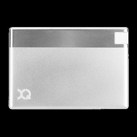 xqisit Battery Pack Lightning 1350 mAh Silber 99923886 vorne