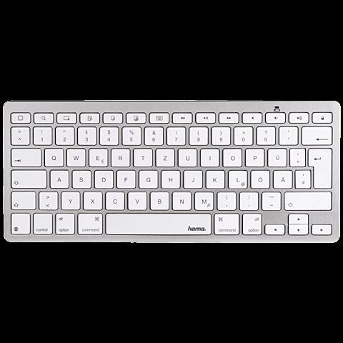 Hama KEY2GO X500 Bluetooth-Tastatur Weiß für Apple iPad 99925107 vorne