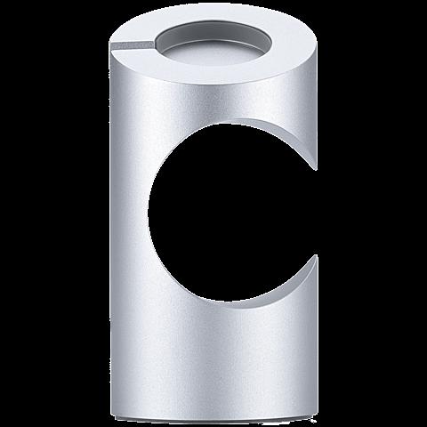 Just Mobile Stand Aluminium Silber Apple Watch 99923707 seitlich