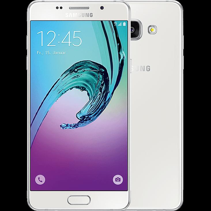 Samsung Galaxy A5 2016 weiß vorne und hinten