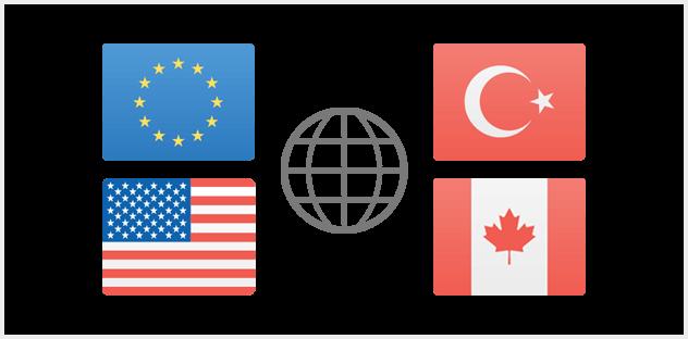 Surfen in der EU – und NEU: in USA, Kanada und Türkei