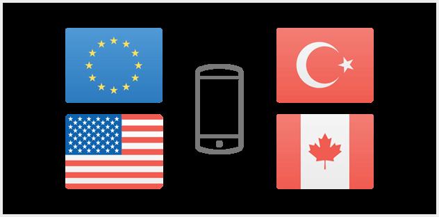 Telefonieren und SMSen in der EU – und NEU: in USA, Kanada und Türkei