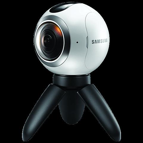 Samsung Gear 360 Kamera Weiß 99925309 seitlich
