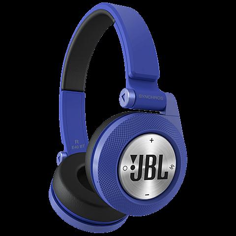 JBL E40 On-Ear Bluetooth-Kopfhörer Blau 99925068 vorne