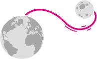 Verbindung Welt zum Mond Symbol