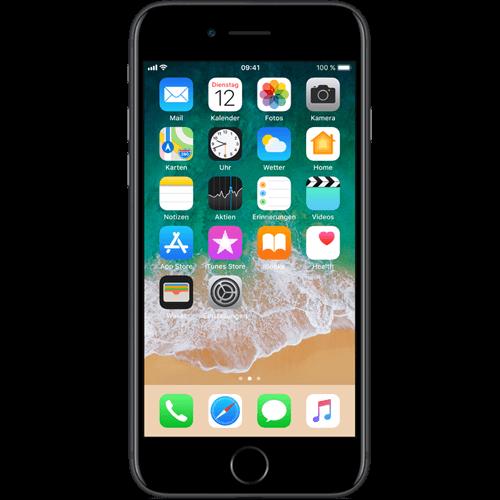Apple iPhone 7 Schwarz vorne