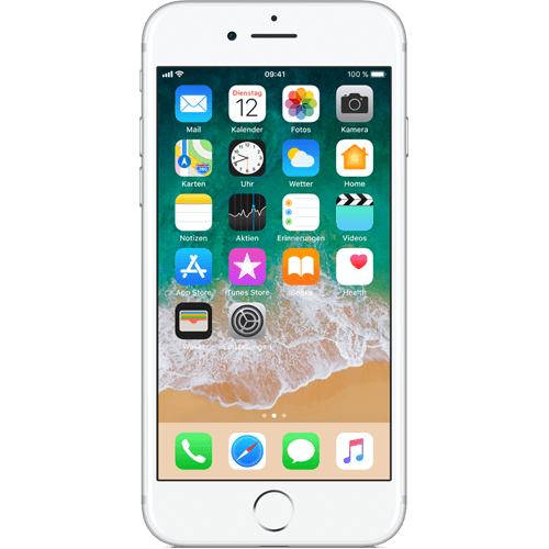 Apple iPhone 7 Silber vorne