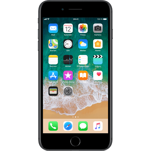 Apple iPhone 7 Plus Schwarz vorne