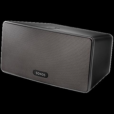 Sonos PLAY:3 Smart Speaker Schwarz 99925296 seitlich