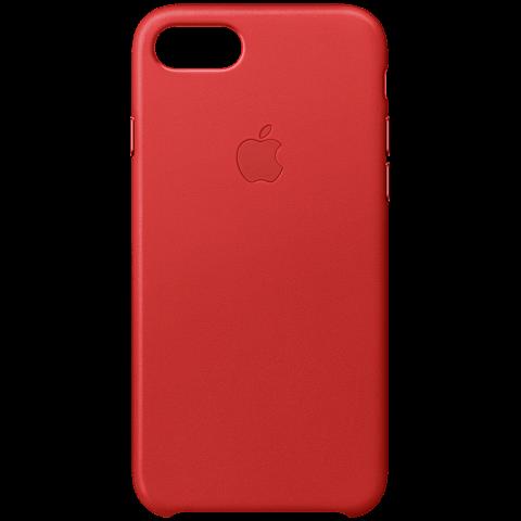 Apple iPhone 7 Leder Case Rot 99925565 vorne