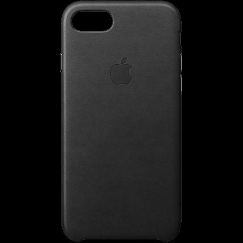 Apple iPhone 7 Leder Case Schwarz 99925545 vorne