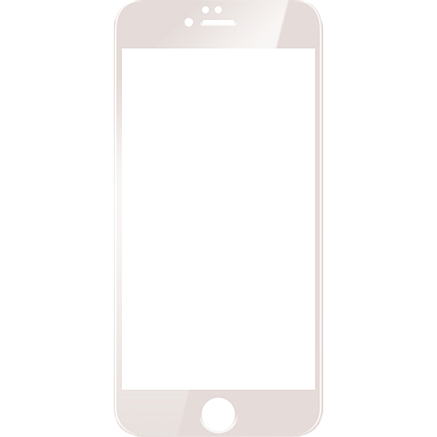 Displex Full Screen Glas Weiß Apple iPhone 7 99925130 vorne