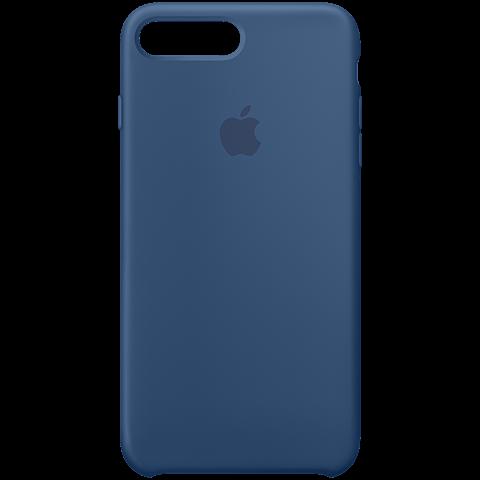 Apple iPhone7Plus Silikon Case Ozeanblau 99925587 vorne