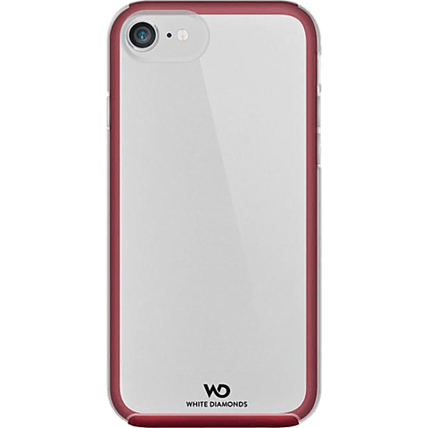 White Diamonds Essential Clear Case iPhone 7 Burgundy 99925318 hinten