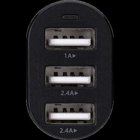 xqisit Kfz-Ladeadapter 3x USB 5.8A Schwarz 99925192 hero
