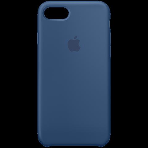 Apple iPhone7 Silikon Case Ozeanblau 99925540 vorne