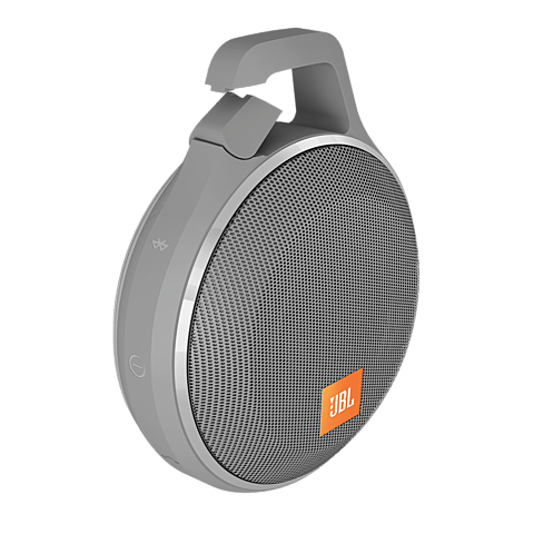 JBL Clip+ Bluetooth-Lautsprecher Grau 99925060 seitlich