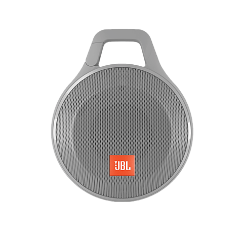 JBL Clip+ Bluetooth-Lautsprecher Grau 99925060 vorne