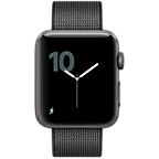 Apple Watch Series 2 42 mm Aluminiumgehäuse Space Grau Nylon-Armband Schwarz 99925622 kategorie