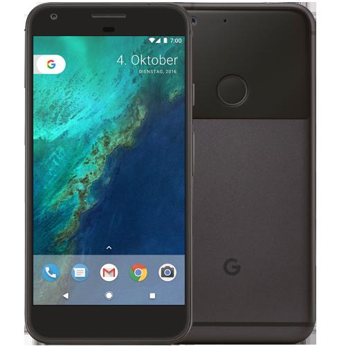 Google Pixel XL Anthrazit vorne und hinten