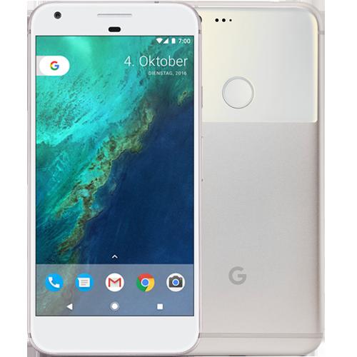 Google Pixel XL Silber vorne und hinten