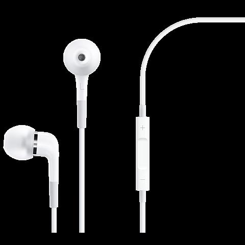 Apple In-Ear Kopfhörer mit Fernbedienung und Mikrofon Weiß 99925250 vorne