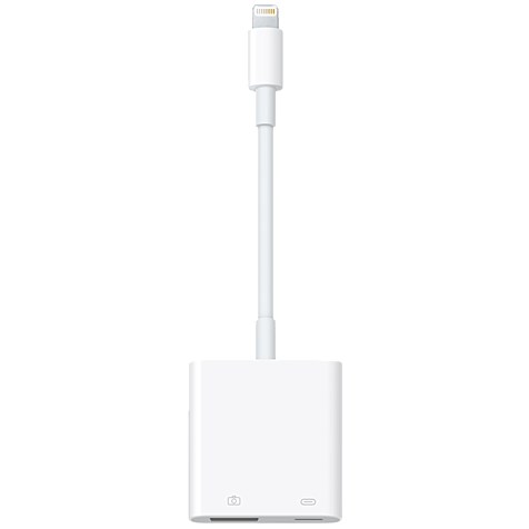 Apple Lightning auf USB 3 Kameraadapter Weiß 99925252 hero