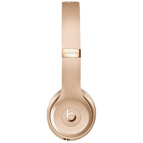 Beats Solo3 Wireless On-Ear Bluetooth-Kopfhörer Gold 99925743 seitlich