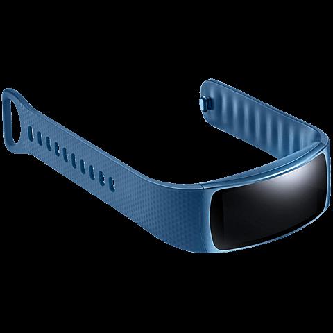 Samsung Gear Fit2 Armbandgröße Lblau 99925883 seitlich