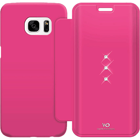 White Diamonds Crystal Booklet Samsung Galaxy S7 edge pink hinten 99925340