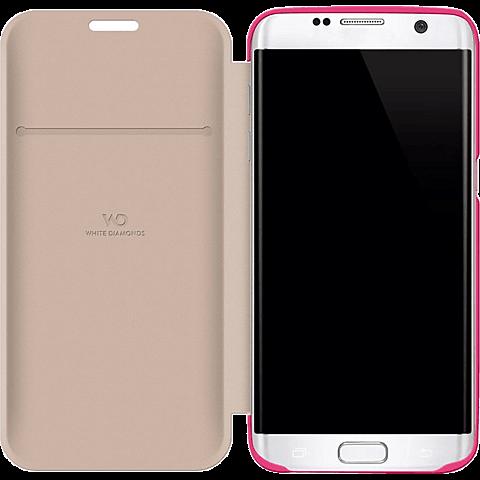 White Diamonds Crystal Booklet Samsung Galaxy S7 edge pink seitlich 99925340